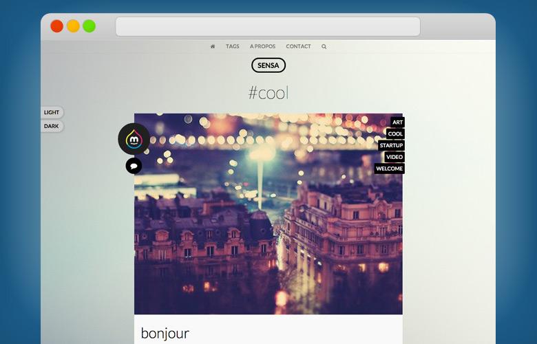 Le template HTML Sensa est disponible en plusieurs couleurs