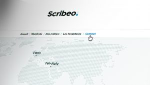 Scribeo : Aperçu du site Wordpress