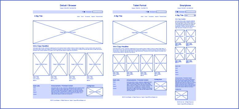 Exemple de wireframe ( ou pré-maquettes )