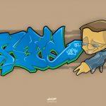 Illustration vectorielle style Graffiti