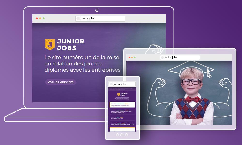 Page d'accueil du job board