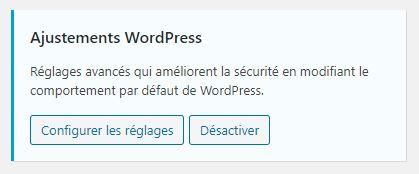 Ajustement WordPress iThemes Security